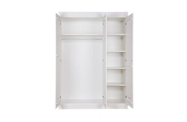 Woood Kast Aanbieding : Lock kast 3 deurs wit [fsc] opbergen woonkamer woood