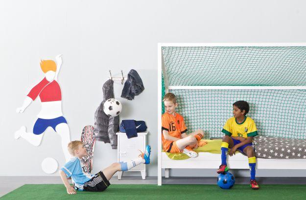 Sale muurdecoratie voetbal silhouette accessoires deco woood