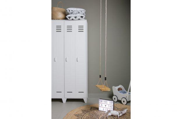 Woood Kast Karwei : Stijn hoog drs lockerkast wit fsc opbergen woonkamer woood