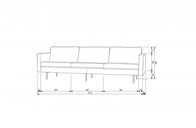 rodeo sofa 3 seater cognac sofas armchairs living bepurehome