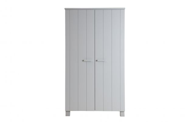 Dennis Wardrobe Pine Concrete Grey Brushed Fsc Storage