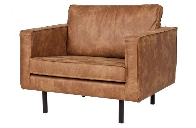 Bepurehome Rough Stoel : Rodeo fauteuil cognac banken woonkamer bepurehome
