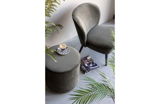 Sara fauteuil fluweel warm groen banken woonkamer de eekhoorn