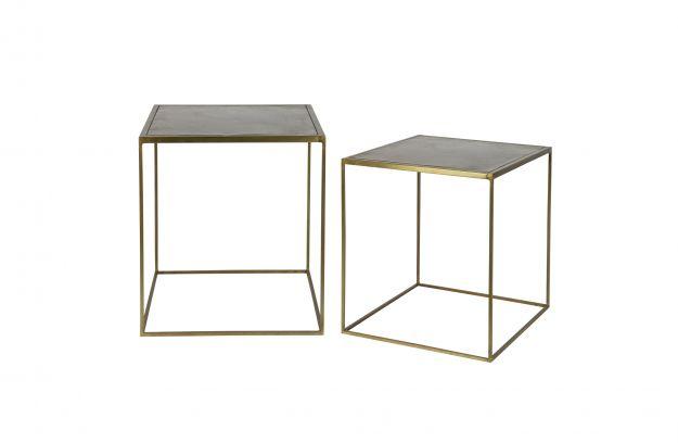 2er set metallic beistelltisch große metall messing   Tische ...