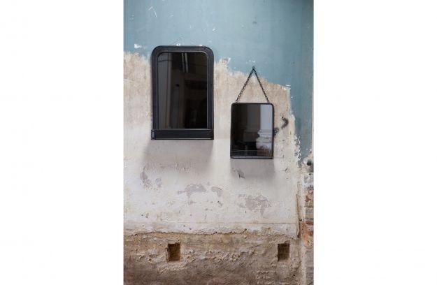Spiegel Met Planchet.Speak Hangende Spiegel Met Planchet Metaal Zwart Accessoires