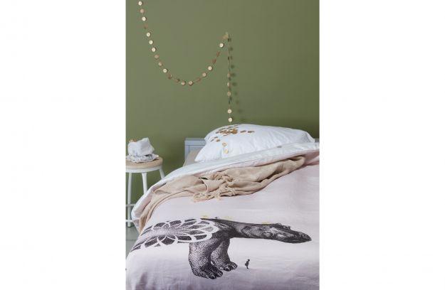 PopotamÉ dekbedovertrek persoons beige bedden slaapkamer