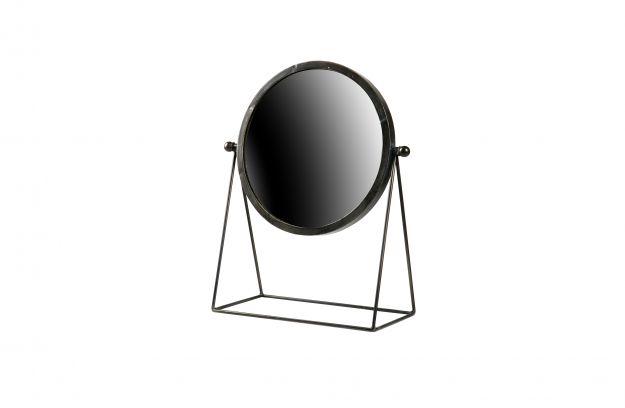 Spiegel Zwart Metaal : Hi spiegel metaal zwart accessoires deco bepurehome
