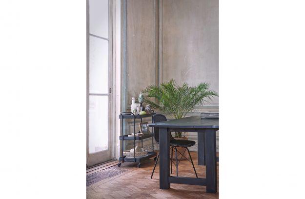 Identity dining table 220x90 oak blacknight [fsc] | Tables | Dining ...