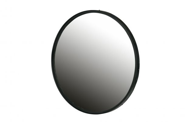 Spiegel Zwart Metaal : Lauren spiegel metaal xl zwart Ø cm accessoires deco woood