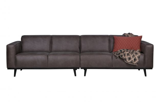4 Zits Bank Trendhopper.Statement 4 Seater 280 Cm Eco Leather Grey Sofas Living Bepurehome