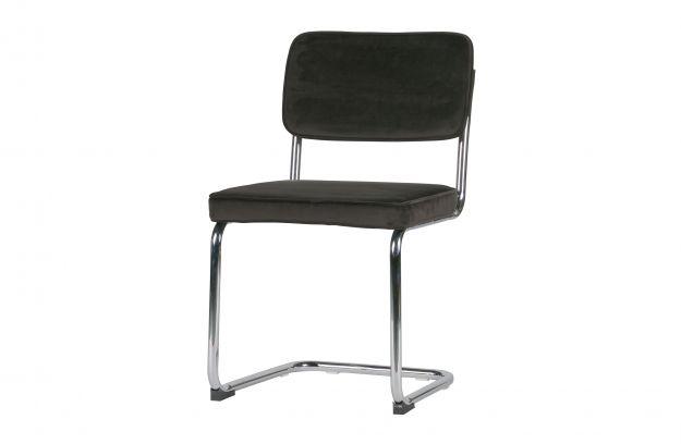 Woood Buisframe Eetkamerstoel.Set Of 2 Lien Chair With Metal Frame Velvet Dark Brown Chairs