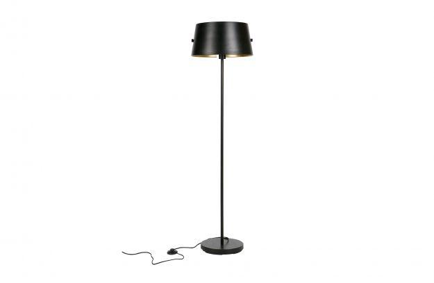Pien vloerlamp metaal zwart lampen deco woood