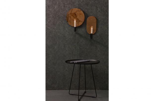Spiegel Zwart Rond : Emily kaarsenhouder met spiegel rond metaal zwart accessoires