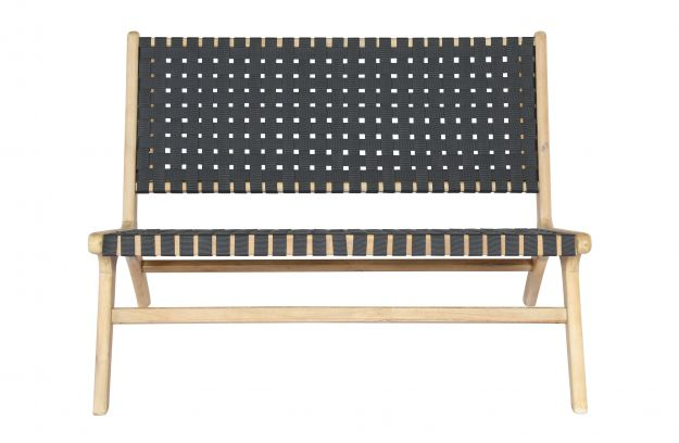Super Frame Anthracite Woven Bench Wood Naturel Sofas Creativecarmelina Interior Chair Design Creativecarmelinacom