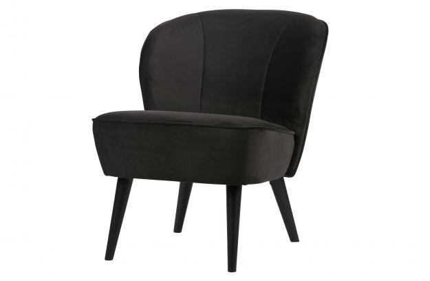 Sara fauteuil velours anthracite canapés salon woood