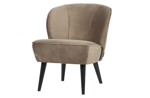 Sara fauteuil fluweel olijfgoud banken woonkamer woood