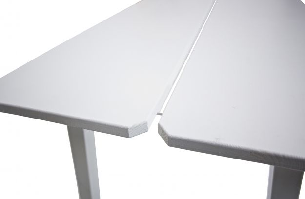 Triomf Dining Table White Top Metal Legs