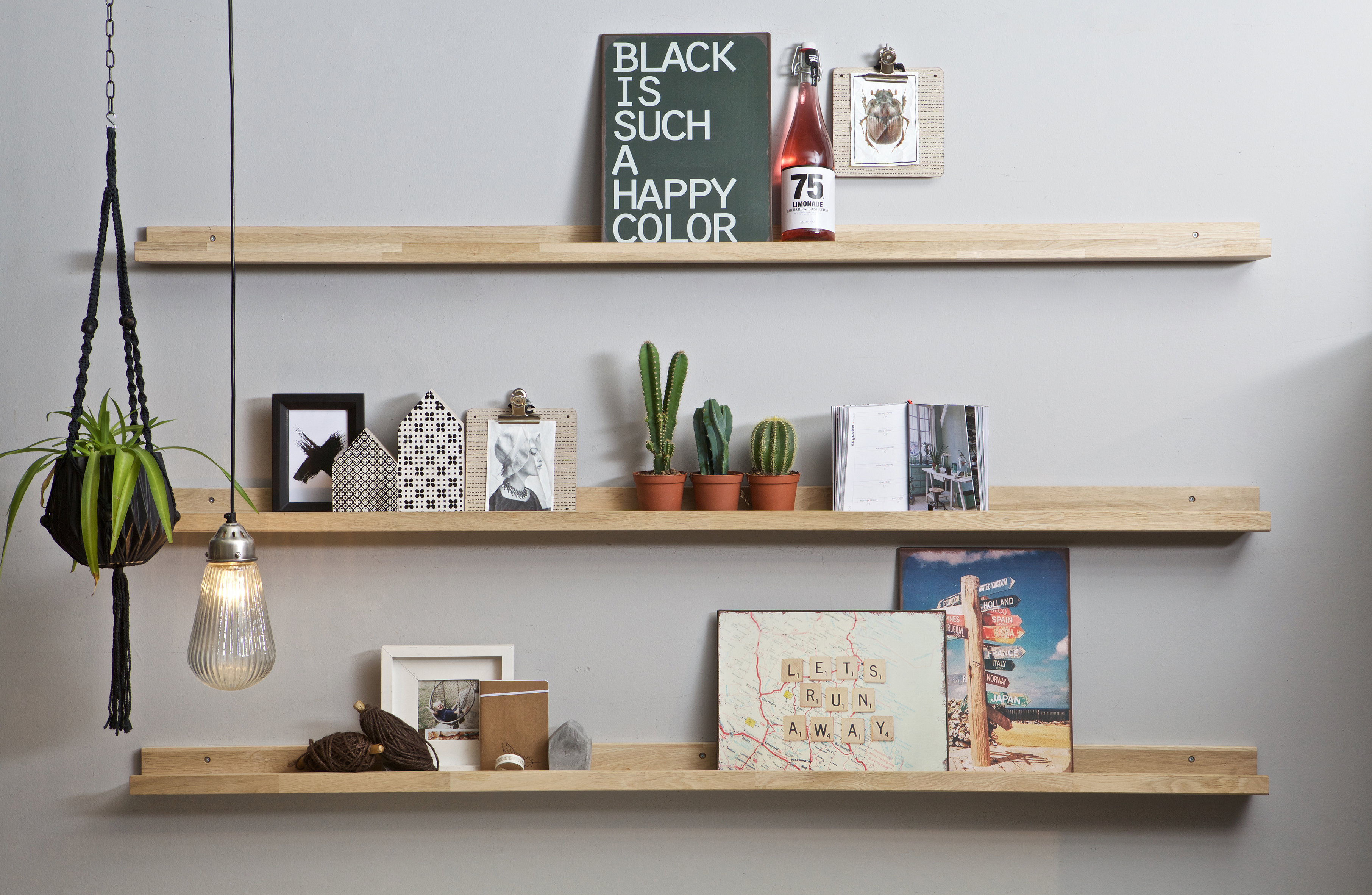 Fotoplank 170 Cm Wit.Vtwonen Photoframe Shelf Oak 170cm Accessoires Deco De