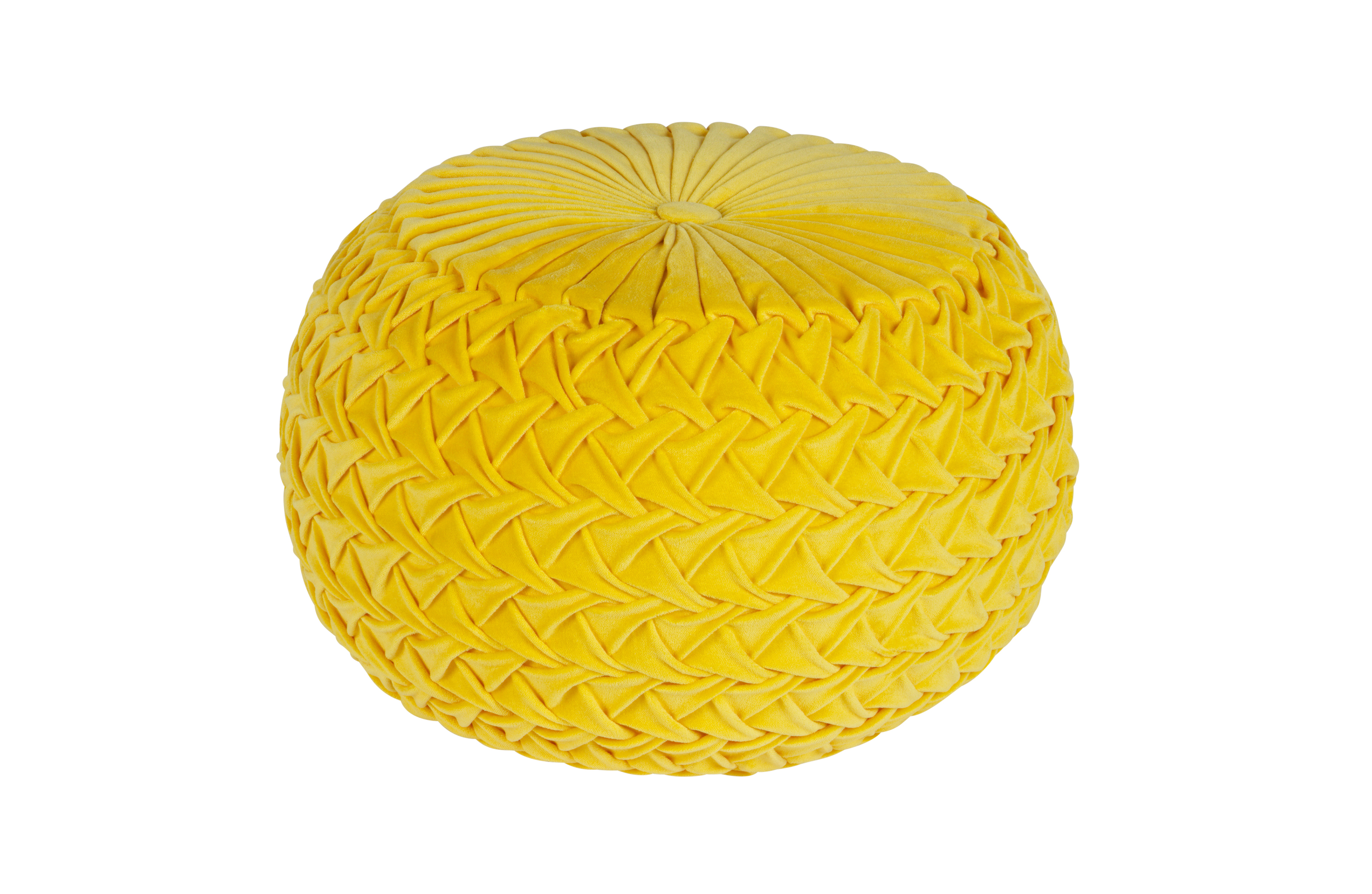 Knitwork tabouret avec coutures sp ciales ocre tabouret pouf salon bepurehome - Poef personnes ...
