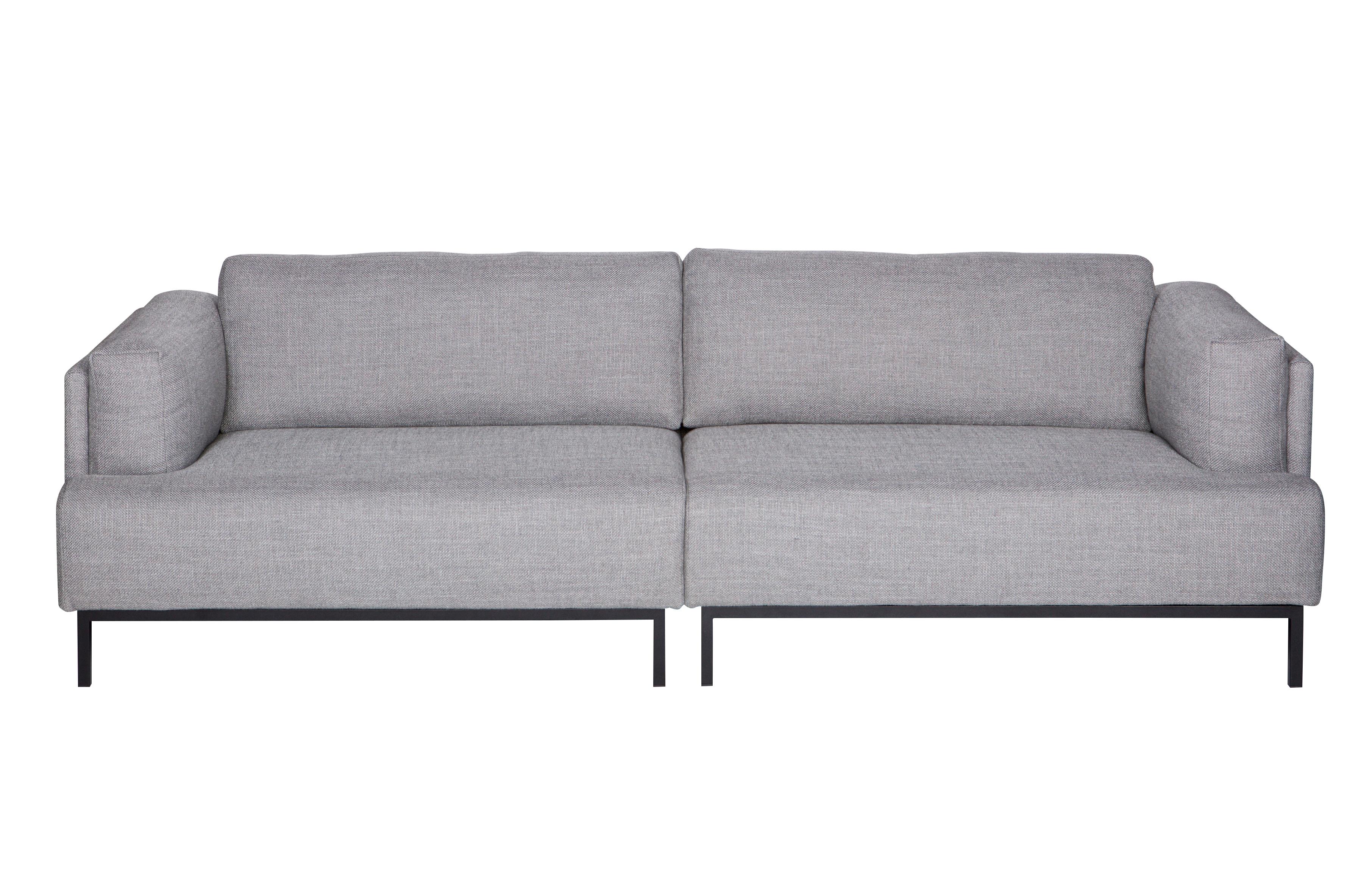 Uma 3 Seater Sofa With Metal Frame Grey Melange Sofas Living De Eekn