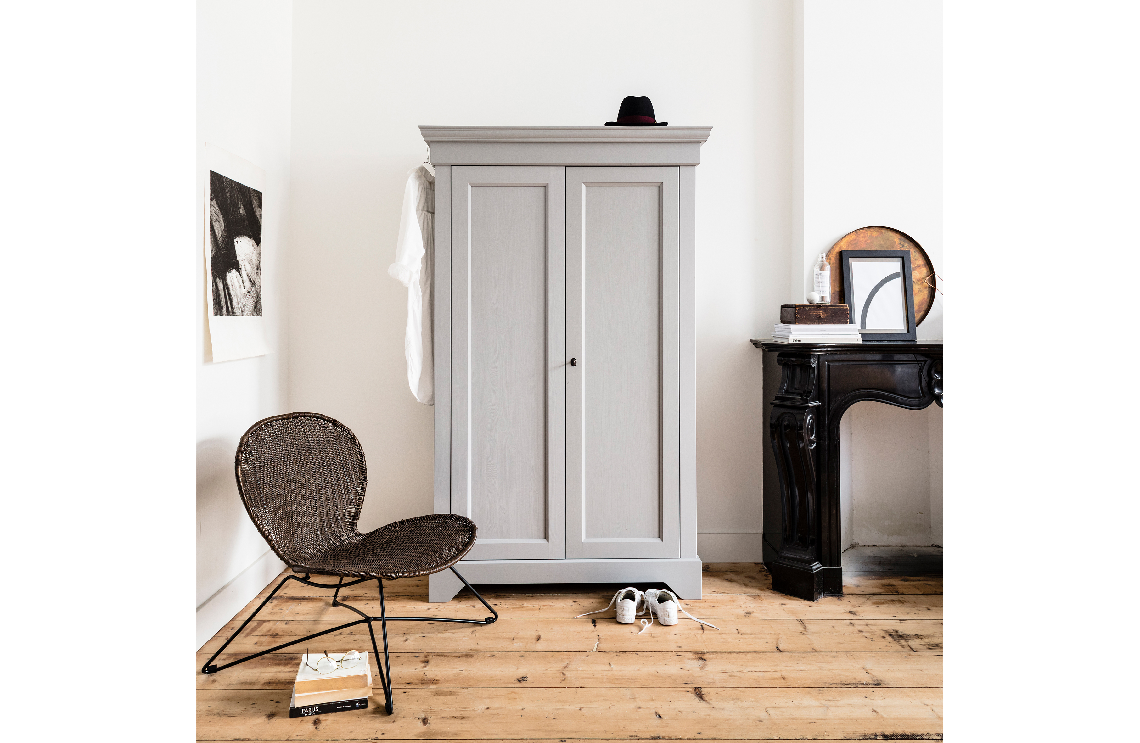 Isabel Cabinet Pine Concrete Grey Fsc Storage Living