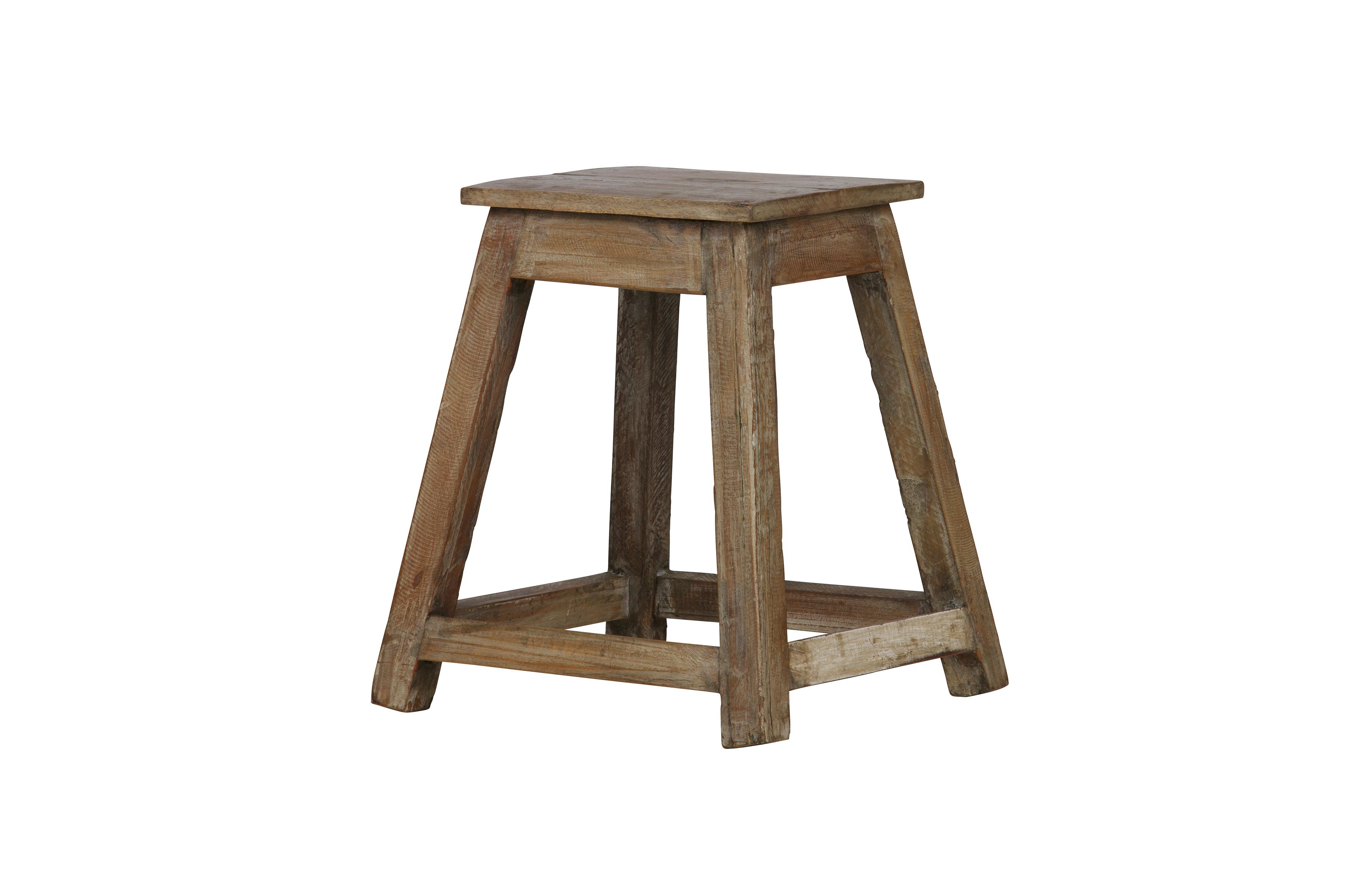 stool bequille en bois tabouret pouf salon de eekhoorn. Black Bedroom Furniture Sets. Home Design Ideas