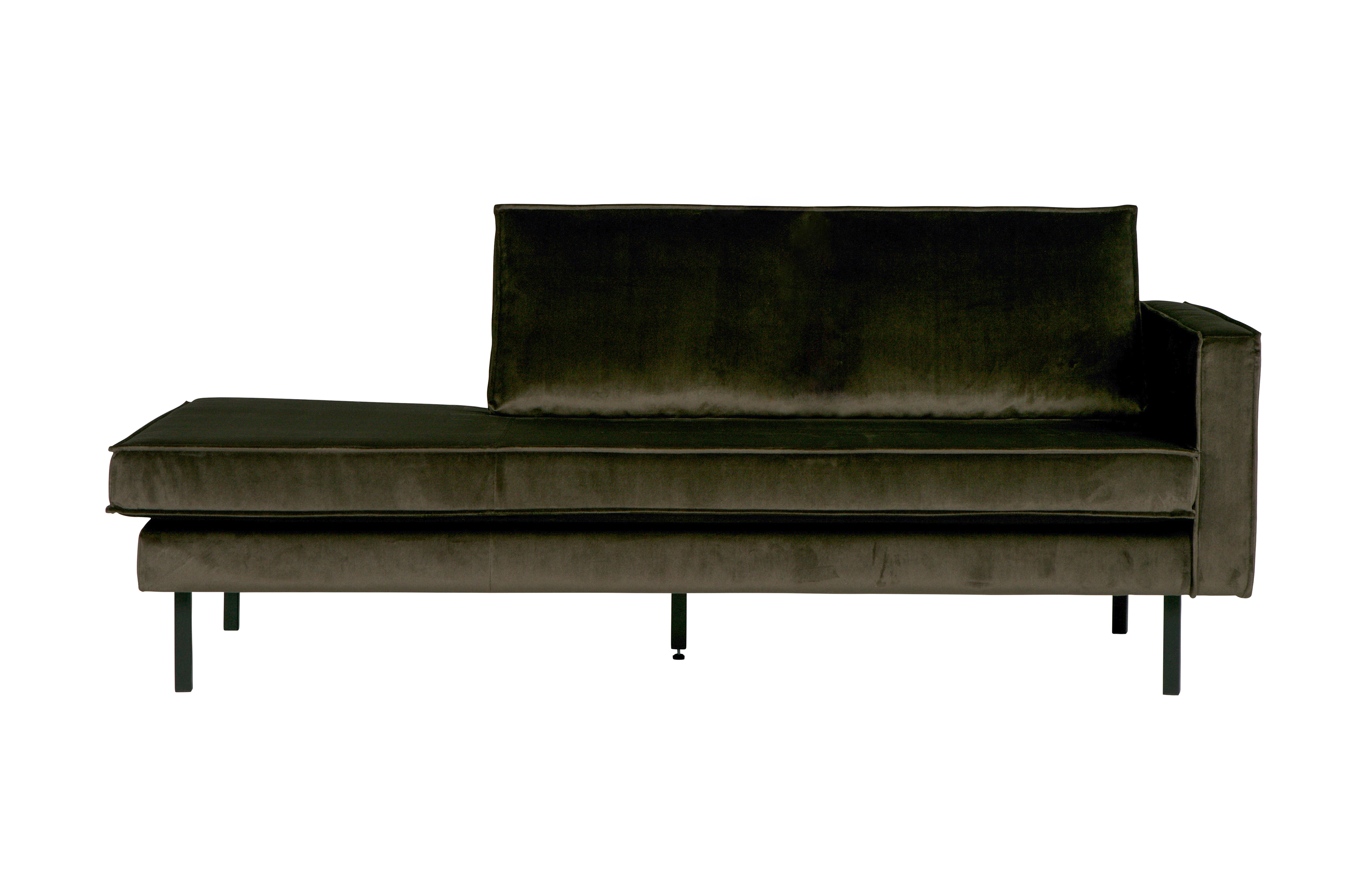 Be Pure Meubels : Rodeo daybed right velvet dark green hunter sofas wohnzimmer