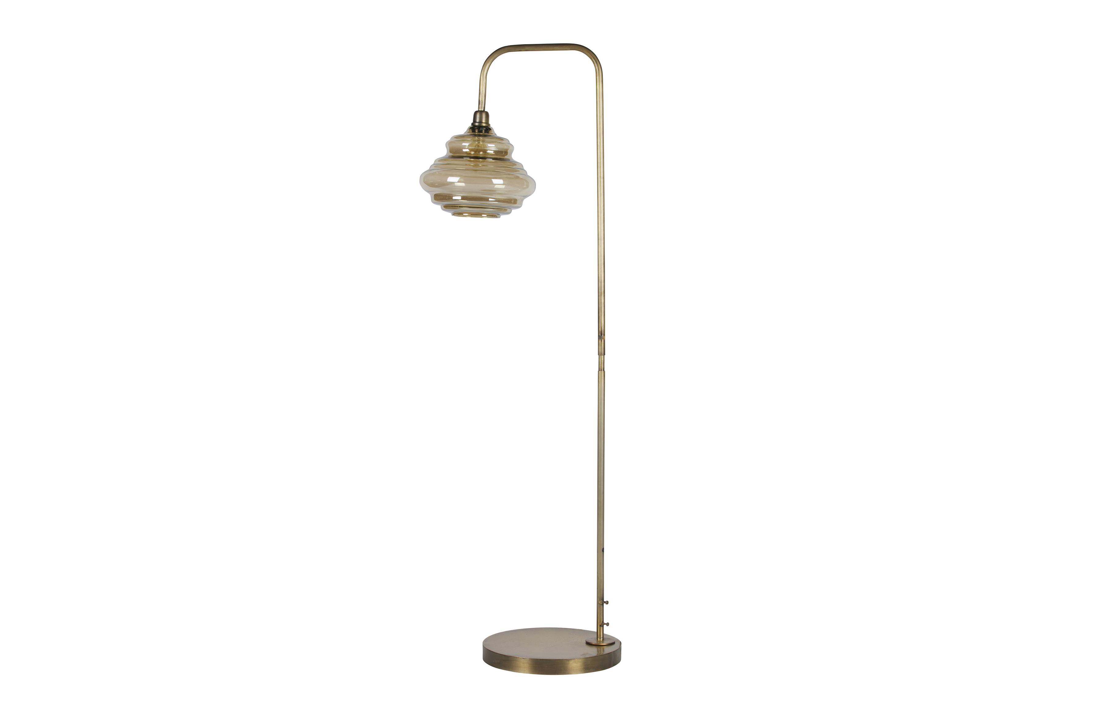 Obvious floor lamp antique brass lightning living bepurehome
