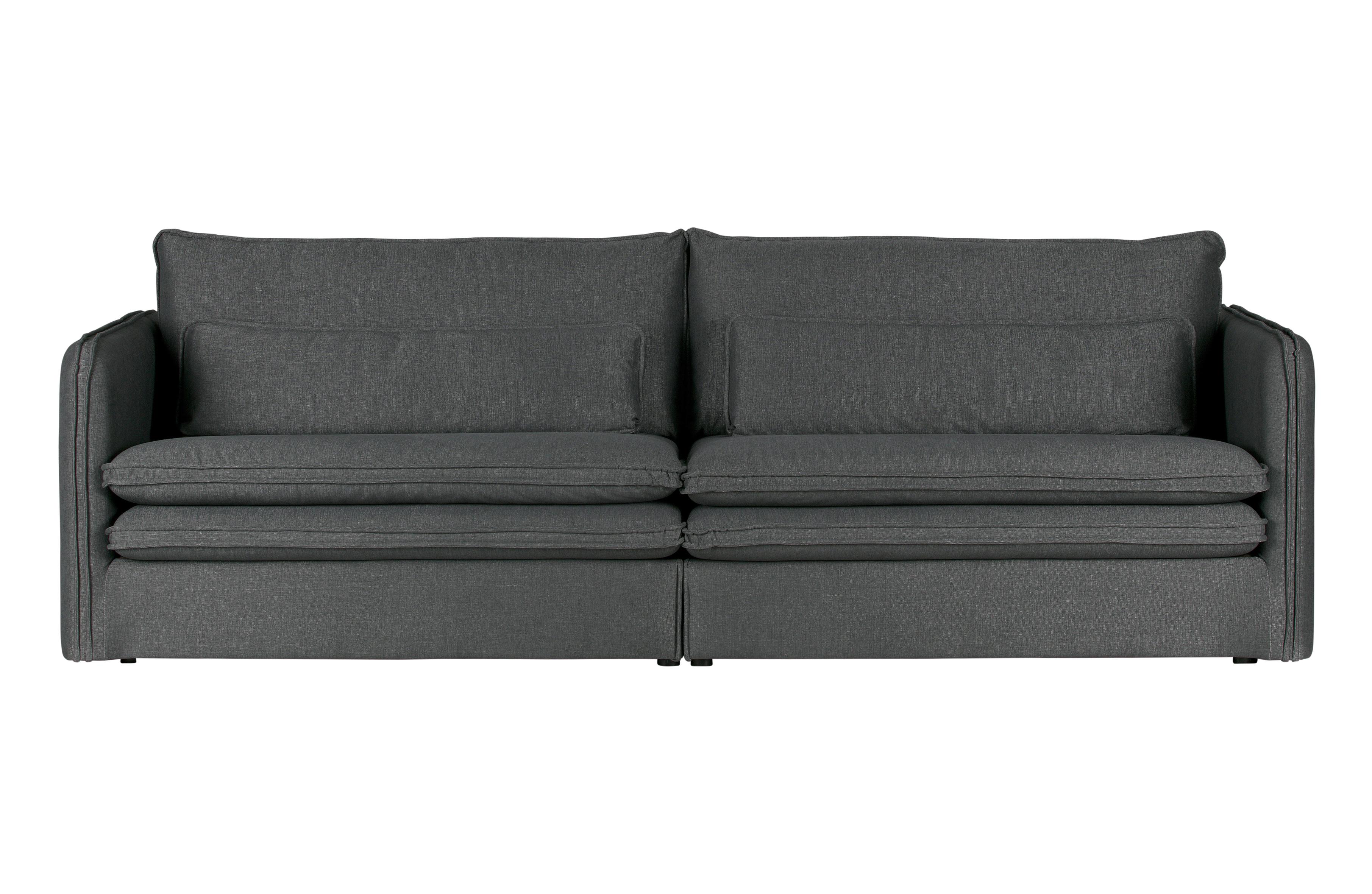 matthijs bank met dubbele kussens donker grijs banken