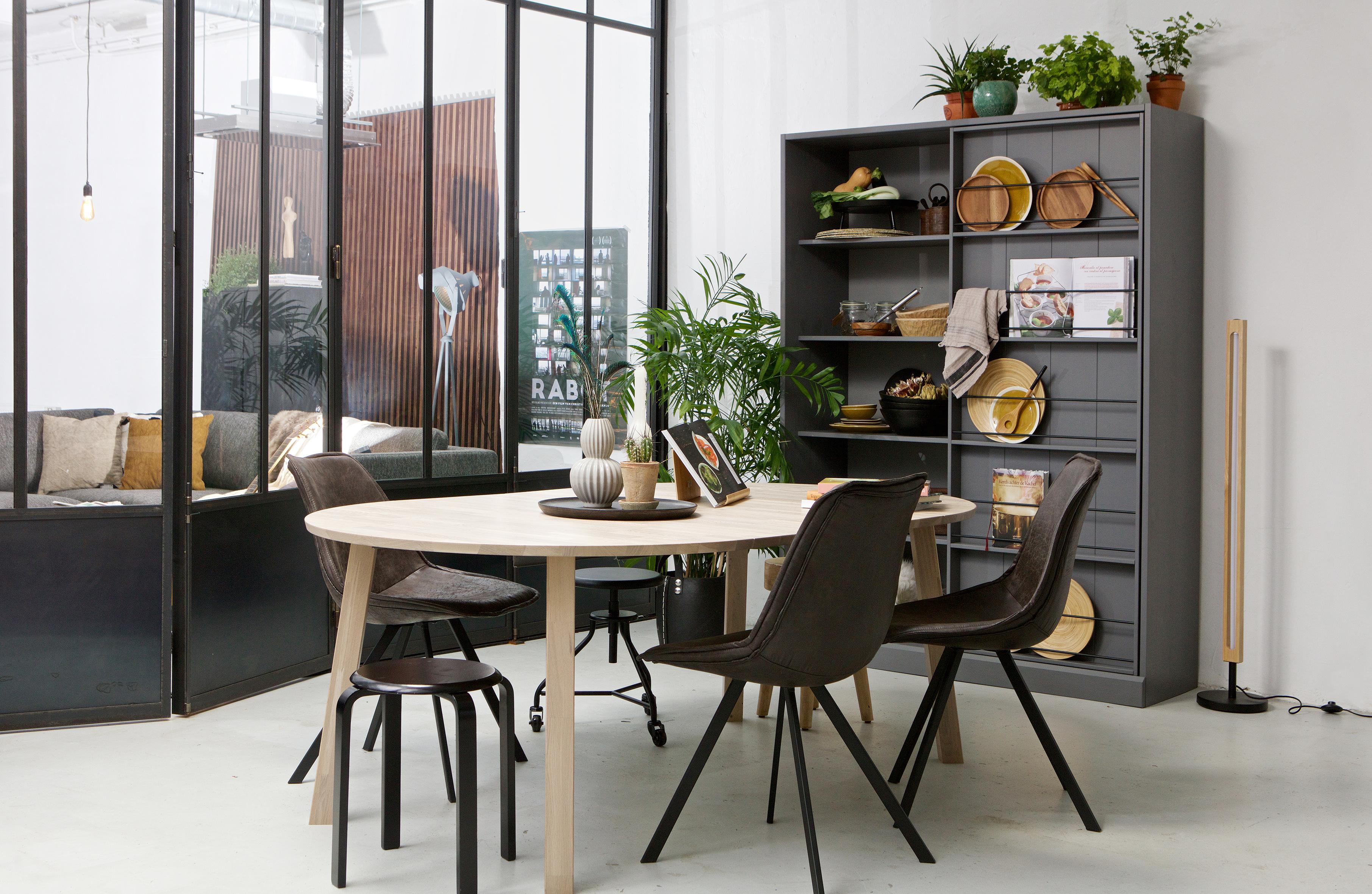 Woood Tafel Rond : Lange jan uitschuifbare eettafel rond eiken sydney fsc tafels