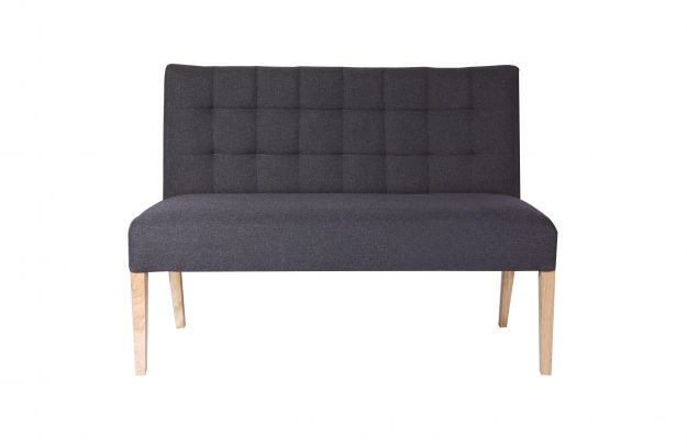 Tijmen dinner sofa warm grey 125cm chairs dining benches dining d - Construire une banquette ...