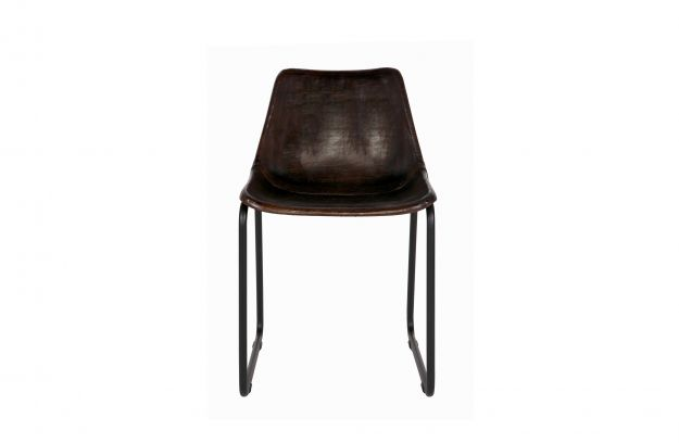 Bepurehome Rough Stoel : Rough chaise marron fonce chaises salle a manger bepurehome