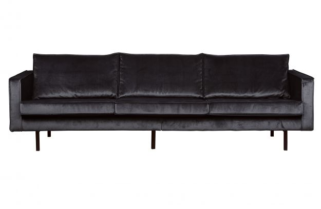 rodeo samt sofa 3 sitzer grau sofas wohnzimmer de eekhoorn. Black Bedroom Furniture Sets. Home Design Ideas