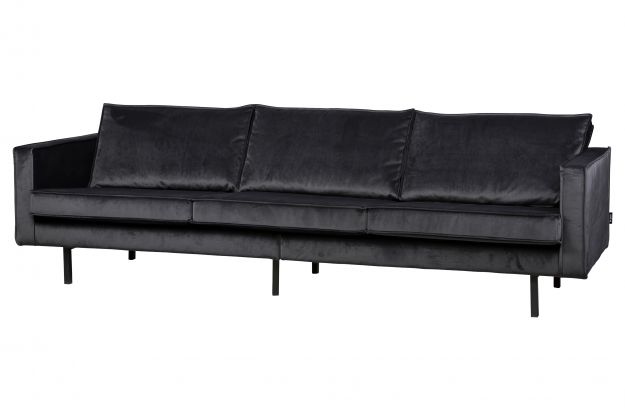 rodeo samt sofa 3 sitzer grau sofas wohnzimmer de. Black Bedroom Furniture Sets. Home Design Ideas