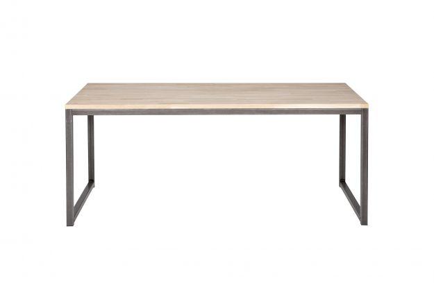 Olivier Table En Chene Massif 150x90cm Frame Metal Fsc Tables