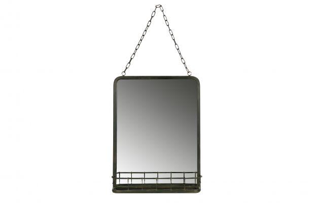 Spiegel Met Plankje : Speak hangende spiegel met planchet metaal zwart accessoires