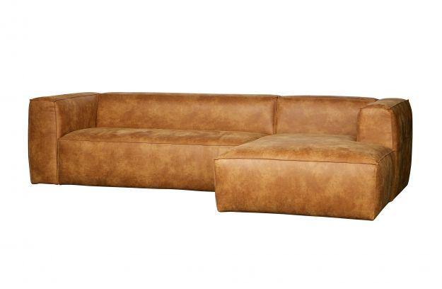 bean hoekbank rechts cognac banken woonkamer woood. Black Bedroom Furniture Sets. Home Design Ideas