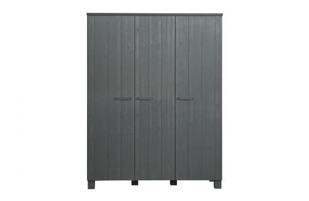 Woood Kast Dennis : Dennis doors wardrobe steelgrey fsc storage kids woood