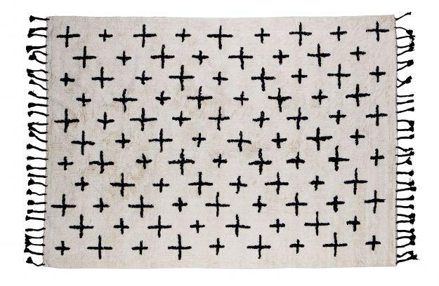 More Teppich Baumwolle Offwhite 170x240 Accessoires Wohnzimmer