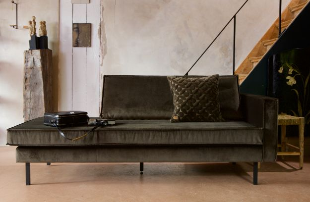 rodeo daybed right velvet dark green hunter banken woonkamer bepurehome. Black Bedroom Furniture Sets. Home Design Ideas