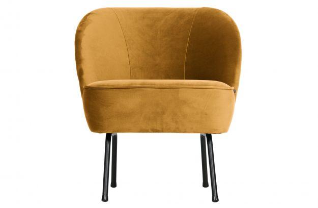 Vogue fauteuil fluweel mosterd | Banken | Woonkamer | BEPUREHOME
