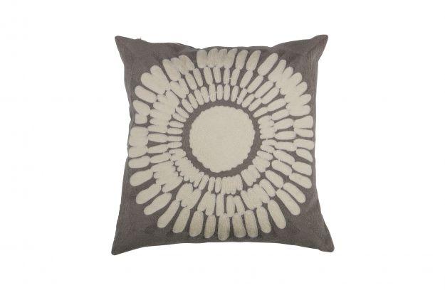 Design Woonkamer Accessoires : Imke kussen met print katoen grijs accessoires woonkamer