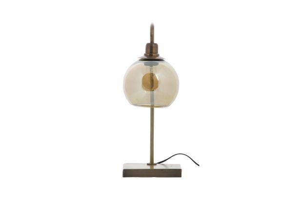Lantern lampe de table mÉtal antique brass | Luminaire