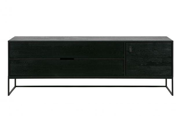 Silas tv meubel eiken geborsteld black night [fsc] | Opbergen ...