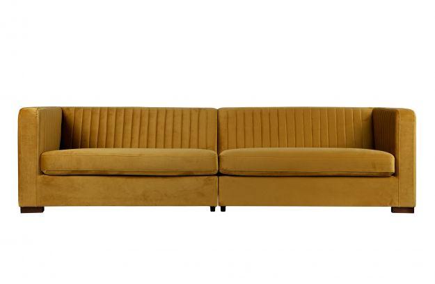 Nouveau Sofa Xl Samt Senf | Sofas & Sessel | Wohnzimmer | De Eekhoorn