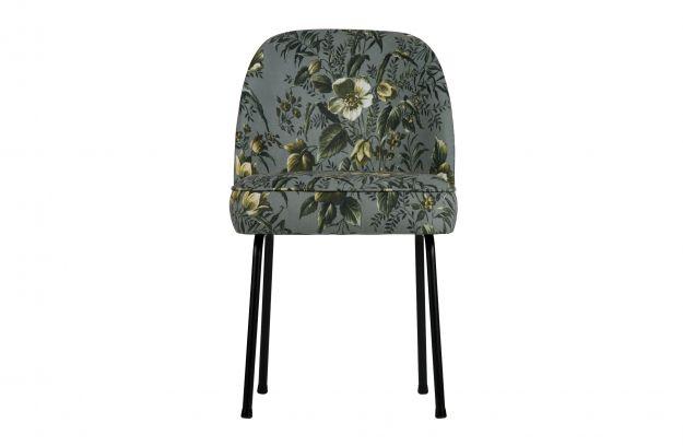 Vogue eetkamerstoel fluweel poppy grijs stoelen eetkamer