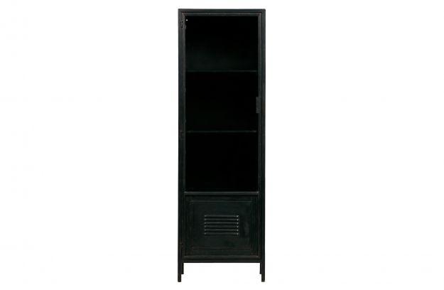 1 Deurs Kast : Maud 1 deurs kast metaal zwart opbergen woonkamer woood
