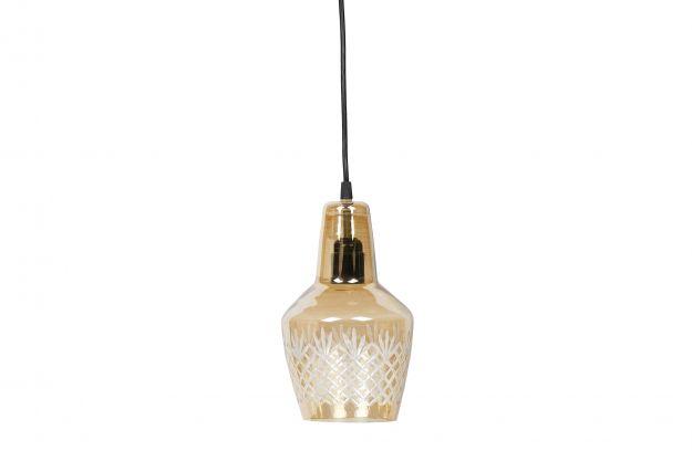 Engrave suspension lampe petite laiton antique | Luminaire