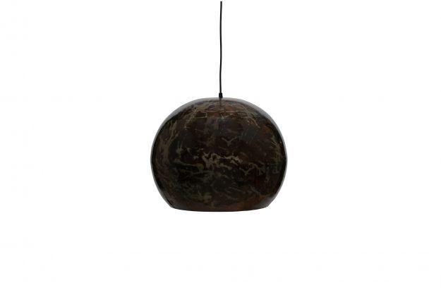 Grand ball suspension lampe mÉtal noir blast | Luminaire