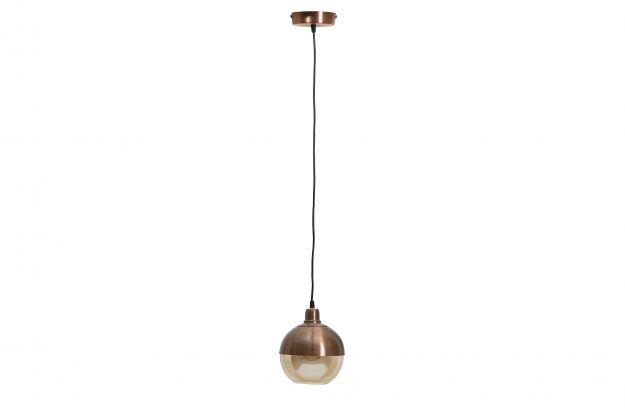 Split suspension lampe marron brush Ø18cm | Luminaire